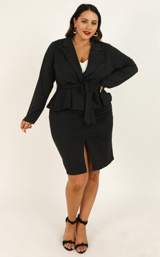 Strong Minded Blazer In Black