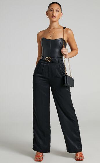 Carrey Tailored Wide Leg Pants in Black