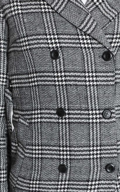Stay Beside Me coat in grey check - 8 (S), Grey, hi-res image number null