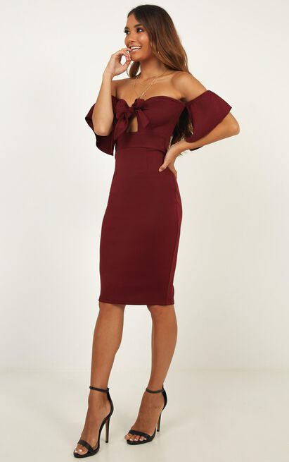 Guest Edit Dress In Wine - 4 (XXS), Wine, hi-res image number null