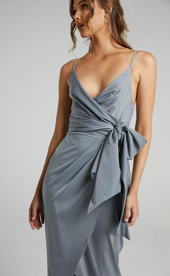 How Will I Know Dress in Dusty Blue