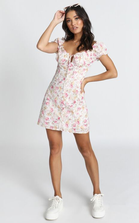 Nothing But Friends Dress In Pink Vintage Floral