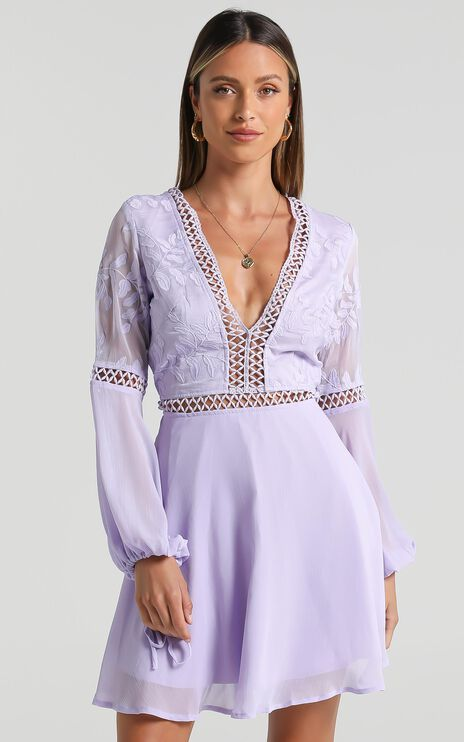 Stop Pretending dress in Lilac
