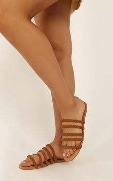 Billini - Adina slides in tan micro