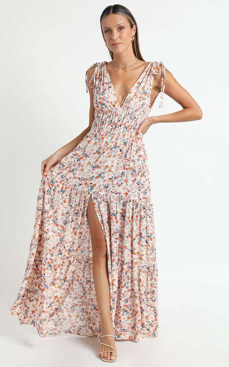 Minkpink - Samaria Sun Tiered Maxi Dress in Samaria