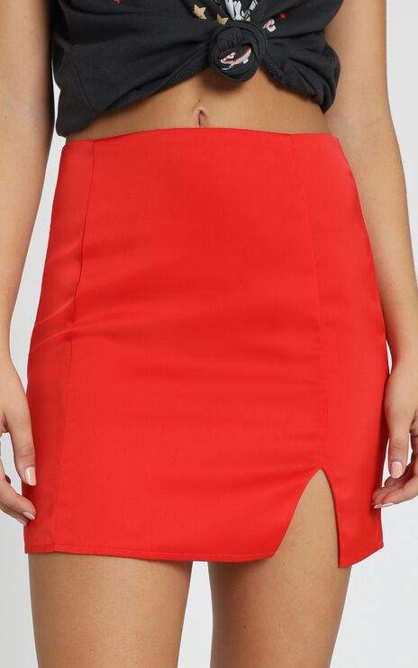 Total Bombshell Skirt In Red