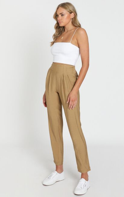 Only Desire Pants in camel - 20 (XXXXL), Camel, hi-res image number null