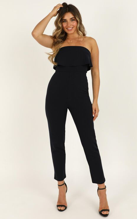 Awake For You Jumpsuit In Navy