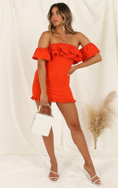 Youre My Butterfly Dress In Tangerine Linen Look