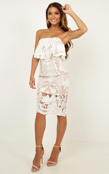 Senorita Dress In White Lace