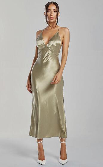Runaway The Label - Safia Slip Dress in Sage