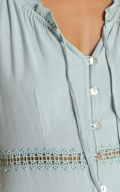 Trinity Trim Detail Dress in sage - 12 (L), Sage, hi-res image number null