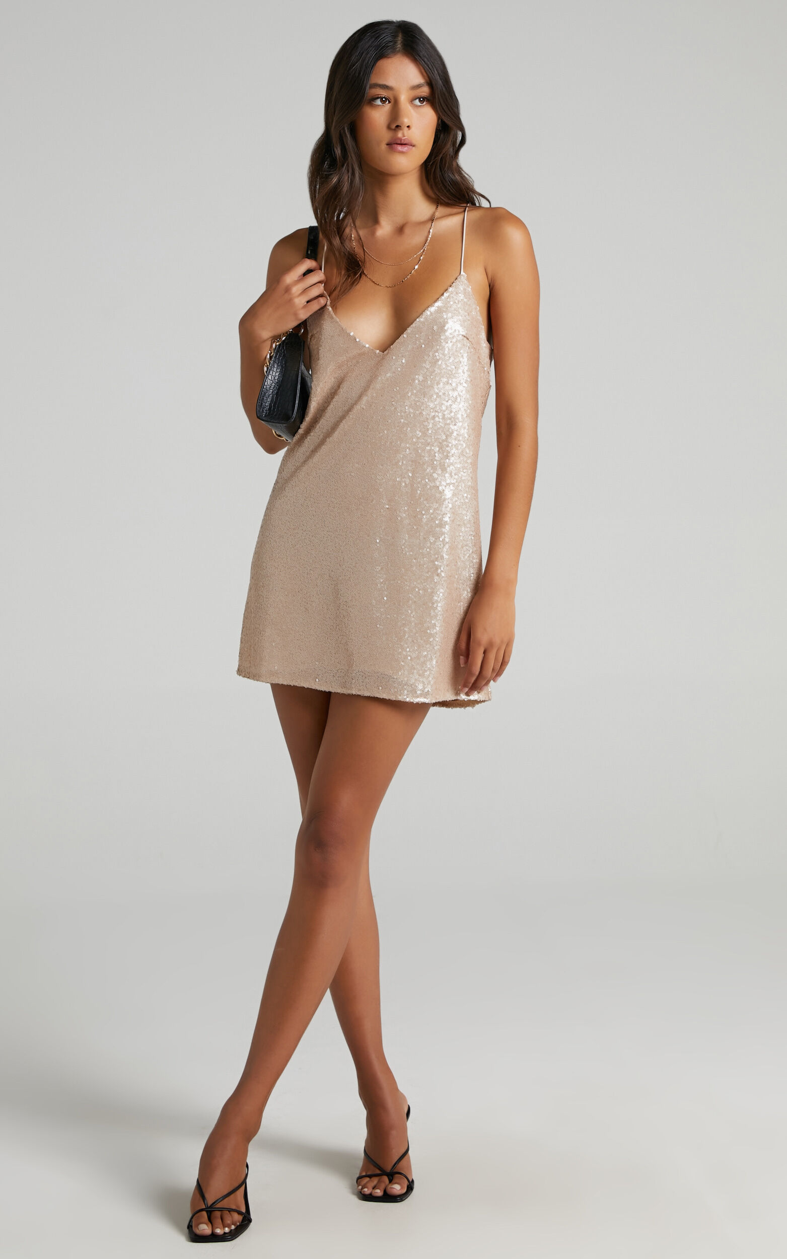 Nights In Vegas Dress in Champagne Sequin - 16, BRN2, super-hi-res image number null