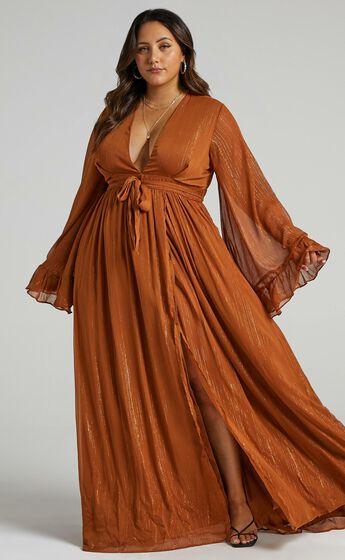 Dangerous Woman Maxi Dress in Rust
