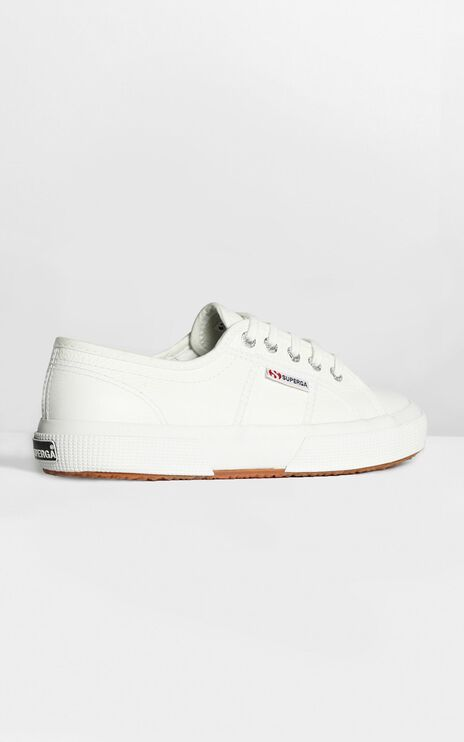 Superga - 2750 EFGLU Sneaker in White Leather