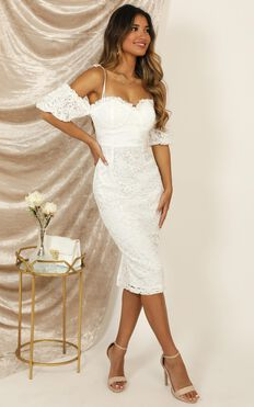 The Magic Touch Dress In White Lace
