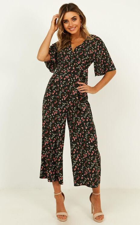 Cant Fight It Jumpsuit in Forest Green Floral