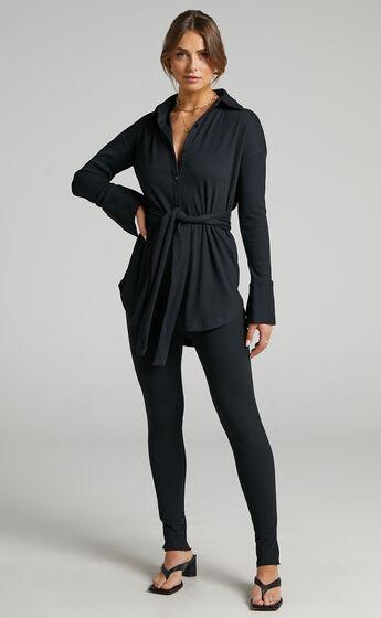 SNDYS - Renee Ribbed Top in Black