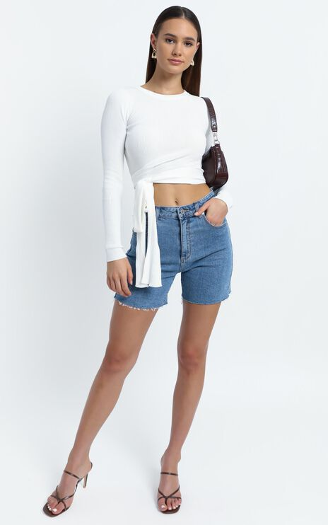 Malik Knit Top in White