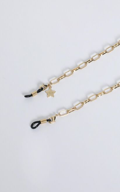 Quay - Box Link Sunglasses Chain in Gold, , hi-res image number null