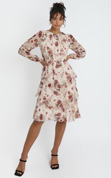 Hollie Dress in Cream Floral