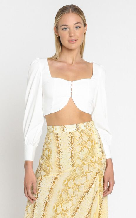 Talar Top in White