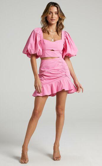 Astarte Two Piece Set in Bubblegum Pink