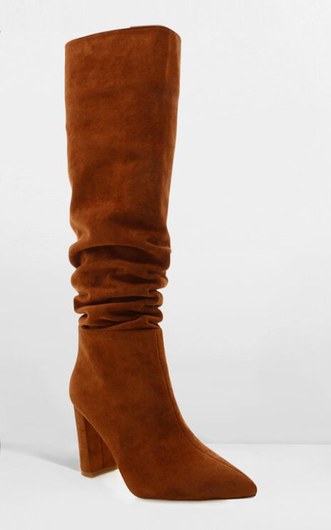 Billini - Willow Boots In Chestnut Micro