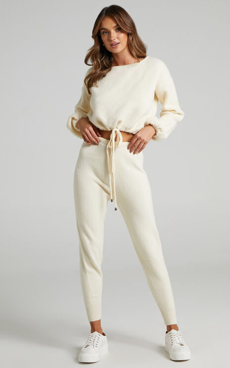 Emberly Two Piece Knit Set in Cream