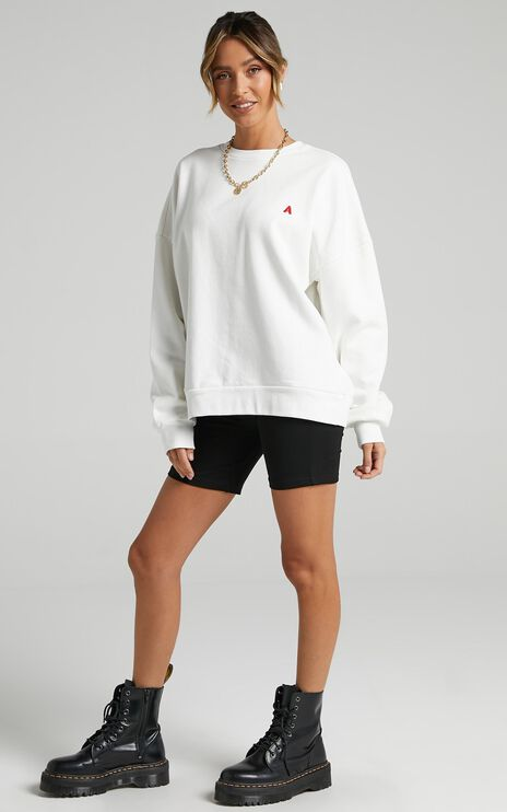 Abrand - Oversized Sweater in White Sand