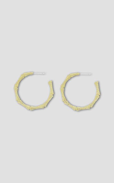 Jolie & Deen - Cane Hoop Earrings in Gold