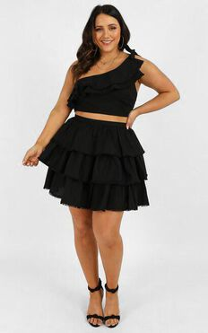 Rooftop Spritz Two Piece Set In Black
