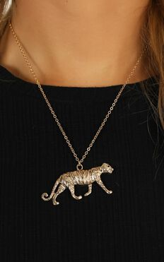 Fierce Attitude Necklace In Gold