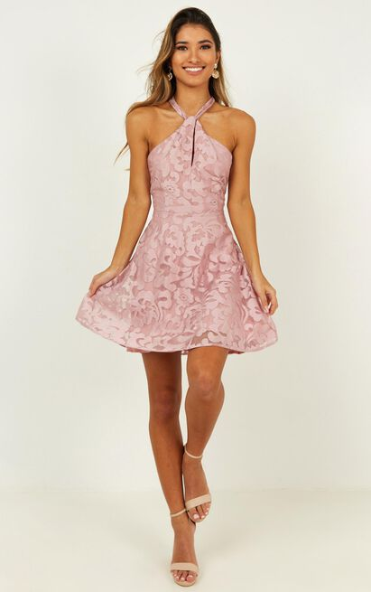 Two worlds apart dress in dusty rose - 20 (XXXXL), Pink, hi-res image number null