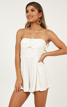 Learning To Love Playsuit In White