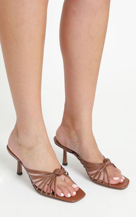 Alias Mae - Libby Heels in Mocha Leather