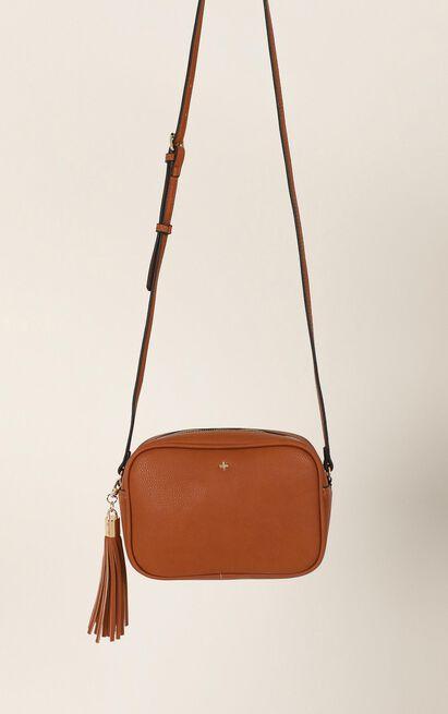 Peta and Jain - Gracie Shoulder Bag In Tan Pebble, Tan, hi-res image number null