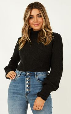 Dreaming Of Warmth Knit Jumper In Black