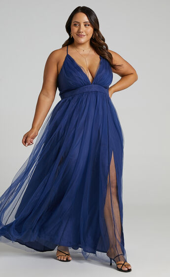 Tell Me Lies Dress in Navy Tulle