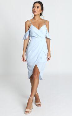A Fair Go Dress In Powder Blue