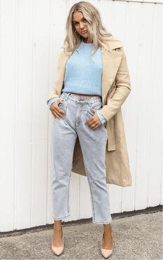 Sidnee Jeans In Light Blue Denim