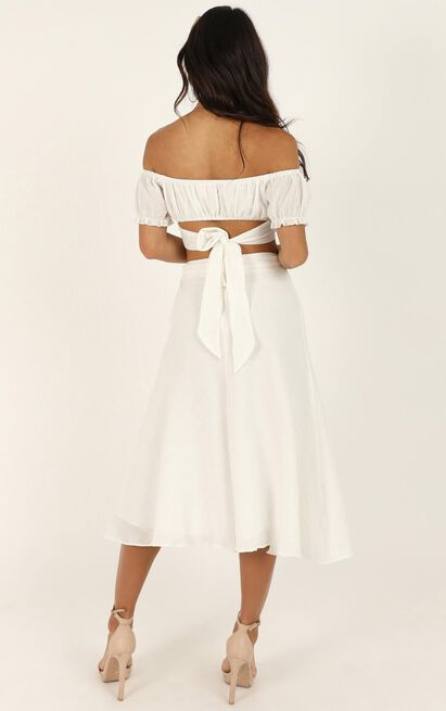 Ready Or Not Skirt in white linen look - 4 (XXS), White, hi-res image number null