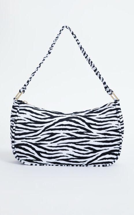 Addey Bag in Black White Zebra