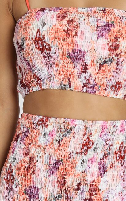 Time Of Our Lives Two Piece Set In atomic tangerine floral - 4 (XXS), Orange, hi-res image number null