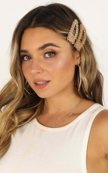 Be The Same Hair Clips In Champagne, Beige, hi-res image number null