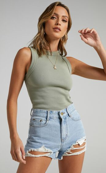 Summer Ready Denim Shorts In Light Wash