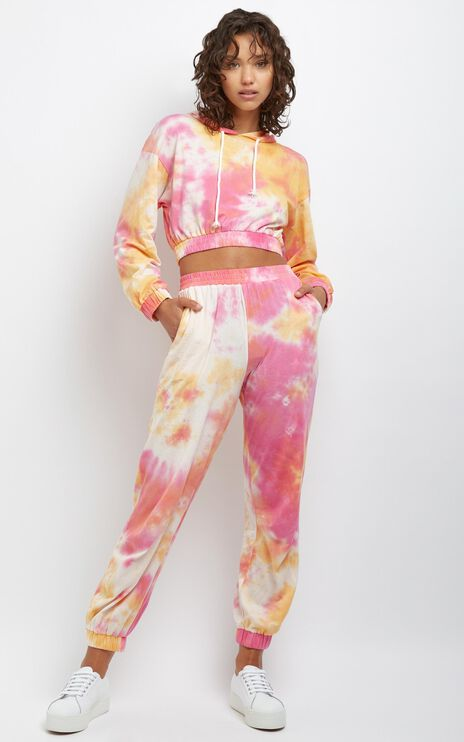 Lopez Two Piece Set in Pink Tie Dye