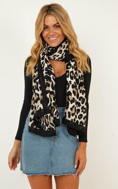 Always Here Scarf In Leopard Print