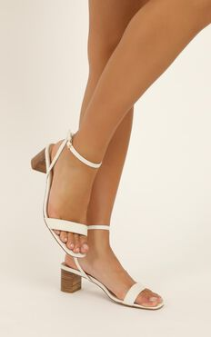 Billini - Zuri Heels In White Linen