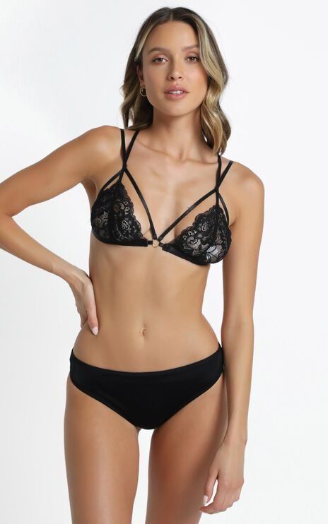 Penni Bralette in Black Lace